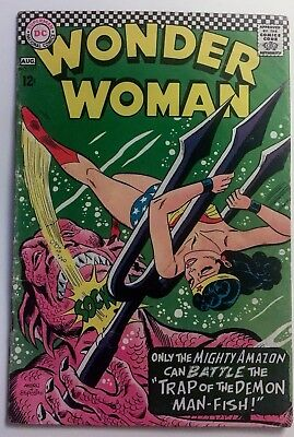 WONDER WOMAN 171 (1967) Demon Man-Fish; Solid VG+ 4.5