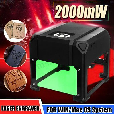 1500MW DIY Desktop Laser Engraver Machine Printer Carver For WIN/Mac OS System