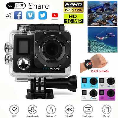 Ultra 4K HD1080P Sport Action Camera Waterproof WiFi DV DVR Helmet Cam Camcorder