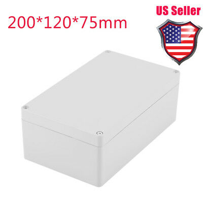 Waterproof Plastic Electrical Junction Wiring Box 200*120*75 Connection Case US