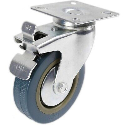 Furniture Hardware Heavy Duty 75mm Swivel Castor With Brake Trolley Casters Wheels For Furniture Casters Set Of 4