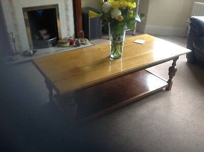 1930's solid English coffee table