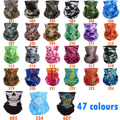 Motorcycle Bicycle Biker Head Neck Tube Bandana Mask Camo Headband Face Scarf UV