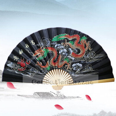 Extra Large Dragon Chinese Bamboo Folding Blossom FAN for Home Decor/ Display