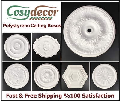 Ceiling Rose Polystyrene Easy Fit Very Light Weight From £7.99 Same Day Shipping