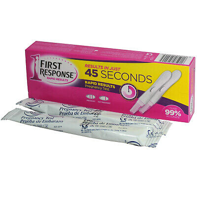 First Response Pregnancy Test Rapid Results in 45 Seconds - 2 Tests EXP 2/1/2020