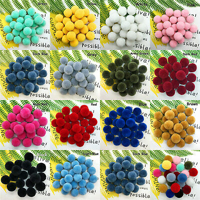 50pcs 20mm Fluffy Pom Poms Ball Pure Plush Ball Pompon Xmas Festival Decoration