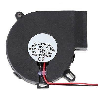 Brushless DC Cooling Blower Fan Sleeve-bearing MID speed 7525S 12V 0.18A 75x33mm