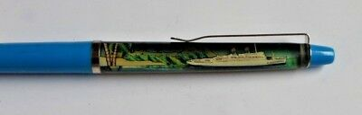 Vintage Floaty Advertising Pen SS Independence Floating Cruse Ship Denmark