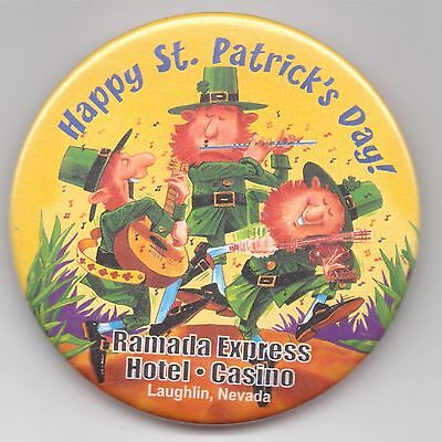 Ramada Express Hotel-Casino-Laughlin-Happy St. Patrick's Day!-Pinback-Three Inch