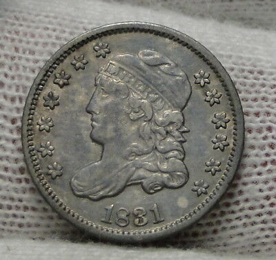 1831 Capped Bust Half Dime H10C 5 Cents - Nice Old Coin, Free Shipping  (5330)