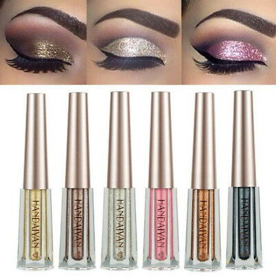 12 Colors Liquid Waterproof Shine Eye Shadow Eyeshadow Glitter Glow Cosmetic