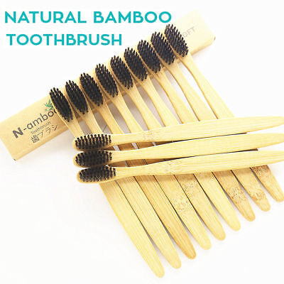 LOT Quality Bamboo Toothbrush ECO Friendly ♻️ Charcoal BPA Free Adult & Kids AT