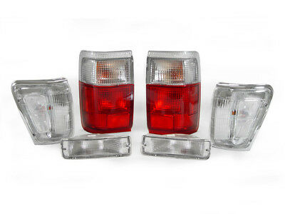 DEPO Red/Clear Tail + Corner + Bumper Signal Lights For 1990-1991 Toyota 4Runner