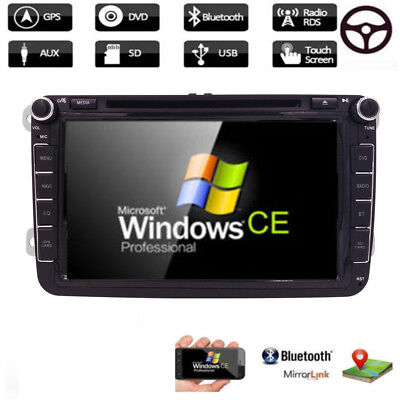 "8"" 2 Din Car DVD Player GPS Navi For Volkswagen VW Golf Passat Sharan Jetta"