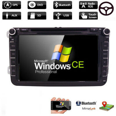"8""Car DVD Player Stereo Touch GPS Nav Unit Für VW Passat B6 Golf Skoda Autoradio"