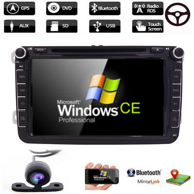 "8"" Radio Stereo Multimedia Car DVD Player GPS Navi For VolksWagen VW EOS+Camera!"