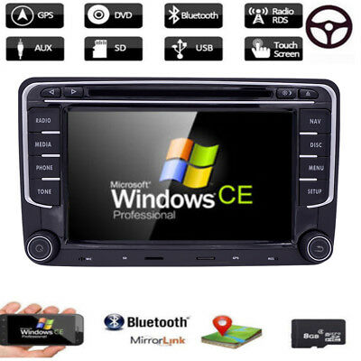 7 Inch Car Stereo DVD Player Auto Radio GPS Navigation Für Skoda Seat VW 2DIN
