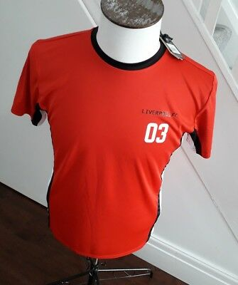 Liverpool FC Official Football Gift Men's Poly Training Kit T-Shirt/SUPERB SMALL