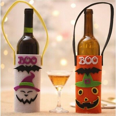 Lovely Wine Bottle Bag Non-Woven Fabric Beautiful Gift Bag Halloween Bar LG