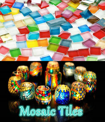 Lot Multicolor Glass Pieces Mosaic Tiles Tessera for DIY Craft Home Decoration#@