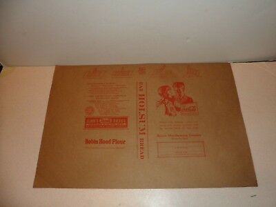 """COCA COLA PAPER BOOK COVER-1940 - 12"""" x 18"""" OLD GRAPHICS ADVERTISING REXALL ++"""