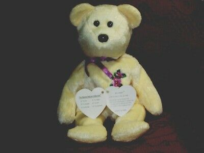 TY Beanie Baby babies bear Mother Mother's Day Bear Mom 5-16-2002 mint Yellow