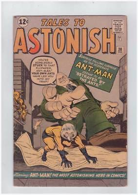 Tales to Astonish # 38 Betrayed by the Ants ! grade 4.0 scarce book !!