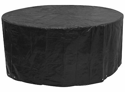 Woodside Black Large Round Waterproof Outdoor Garden Patio Set Furniture Cover