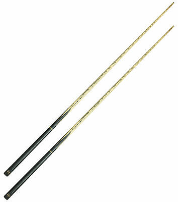 2 x Wollowo 57 Inch White Ash Wood Snooker/Pool Cues