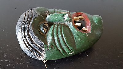INDIAN IROQUOIS MASK (?) ANTIQUE RARE NOT africain AFRICAN NOT STATUE