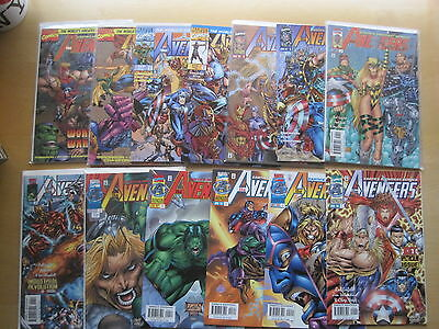 AVENGERS : COMPLETE 13 ISSUE Vol 2 SERIES by LIEFELD,SIMONSON etc. MARVEL.1996