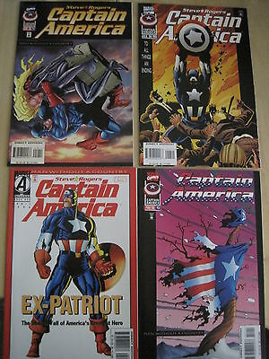 """Captain America : """"man Without A Country"""" : Complete 4 Issue Story 450- 453.1996"""