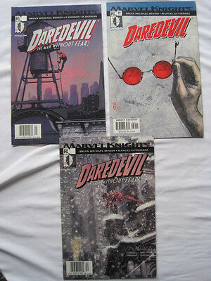"""DAREDEVIL 38,39,40 : """"TRIAL"""" - COMPLETE CLASSIC 3 PART STORY by BENDIS & MALEEV"""