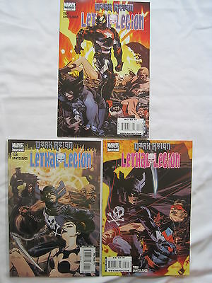 DARK REIGN : LETHAL LEGION :COMPLETE 3 ISSUE SERIES by TIERI & SANTOLOUCO.MARVEL
