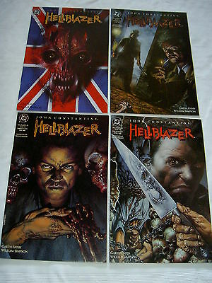 "Hellblazer 52,53,54,55 :""royal Blood"": Complete 4 Part Constantine Story. 1992"