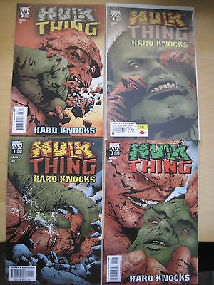 HULK / THING : HARD KNOCKS : complete BRUCE JONES & JAE LEE 4 ISSUE SERIES. 2004