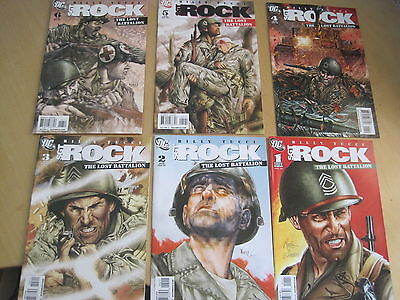 SGT ROCK, The LOST BATTALION : COMPLETE 6 ISSUE SERIES by BILLY TUCCI. DC.2009