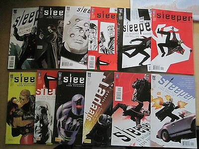 SLEEPER : COMPLETE 12 ISSUE SERIES by ED BRUBAKER & SEAN PHILLIPS.WILDSTORM.2004