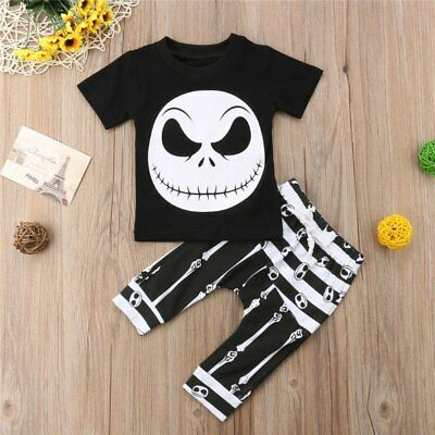 Infant Boys Black and White Halloween Outfit Set Size 0-3T (Free Shipping)