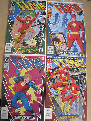 "The FLASH 62,63,64,65 : ""BORN to RUN"" :COMPLETE 4 ISSUE KID FLASH STORY. DC.1992"