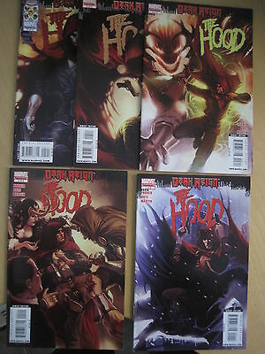 The HOOD : COMPLETE 5 ISSUE SERIES. DARK REIGN by PARKER & HOTZ. MARVEL. 2009