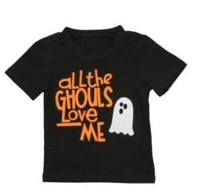 S-310 Halloween Toddler Baby T-shirt Short Sleeve Sizes 6M-3T (Free Shipping)