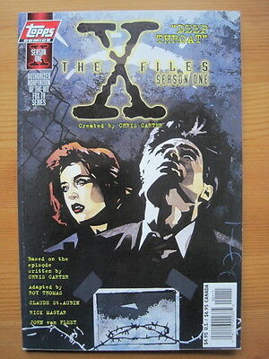 "The X FILES.  SEASON ONE  ""DEEP THROAT""  COLOUR SOFT GRAPHIC NOVEL. TOPPS 1997"