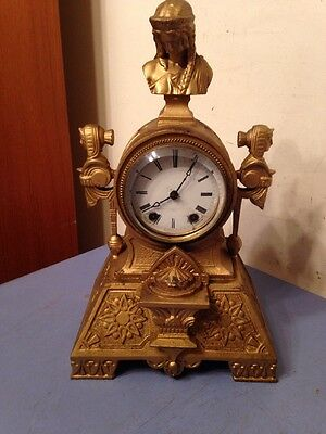 Rare Seth Thomas & Sons Egyptian Revival Figural Mantle Clock