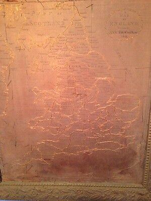 Antique 1814 Map Of England Sampler Ann Trickey
