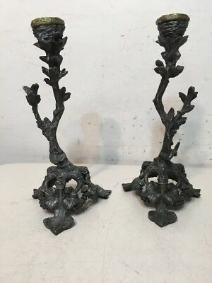 Antique Naturalistic Figural Tree Branch Form Candelabra 1847 English Patent