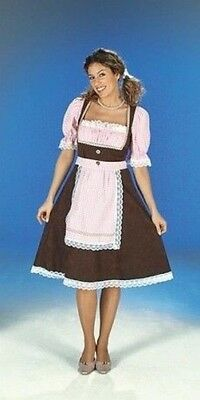 Dirndl M.Blouse, Apron,Bayerntracht, Pink Brown Ladies Country Oktoberfest