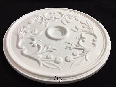 Ivy Ceiling Rose Polystyrene Easy Fit Very Light Weight Starting from £10.99