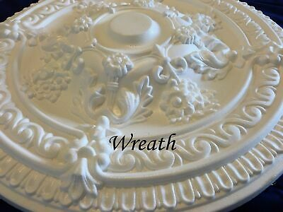 Wreath Ceiling Rose Polystyrene Easy Fit Very Light Weight Starting from £18.99